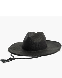 Madewell Wide Brimmed Straw Fedora Hat With Leather Cord