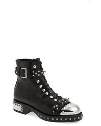 Alexander McQueen Studded Cap Toe Boot