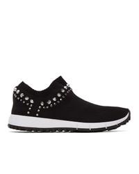 Jimmy Choo Black Studded Verona Sneakers