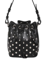 Saint Laurent Small Emmanuelle Studded Calf Bucket Bag