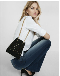Express Street Level Studded Bucket Bag