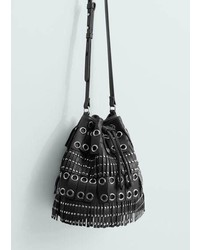 Mango Outlet Studded Bucket Bag