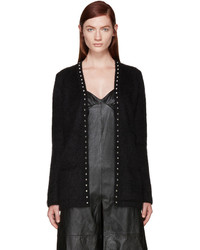 Black Studded Cardigan