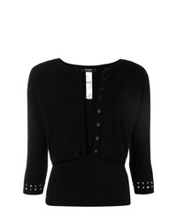 Twin-Set Cropped Studded Cardigan