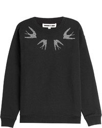Mcq alexander mcqueen embellished cotton sweatshirt medium 354943