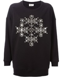 Saint laurent studded cross sweatshirt medium 354933