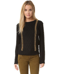 Studded cable sweater medium 794633