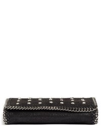 Stella McCartney Mini Falabella Star Studded Crossbody Bag Black