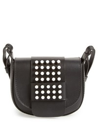 Pedro Garcia Studded Mini Crossbody Bag Black