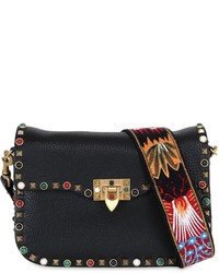 Valentino Guitar Rockstud Rolling Cross Body Bag