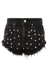 Topshop Moto Star Studded Denim Kiri Mini Shorts
