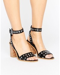 Asos Texas Studded Block Heel Sandals