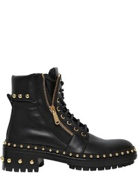 Balmain 40mm Studded Leather Ankle Boots