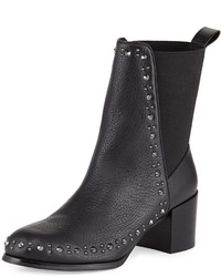 Adrianna Papell Bennet Studded Leather Bootie Black