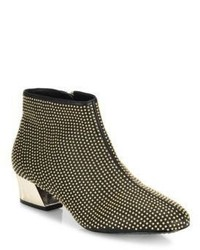 Alice + Olivia Paxton Studded Leather Booties