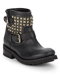Ash Tramp Studded Leather Ankle Boots