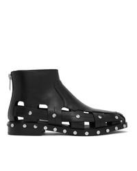 3.1 Phillip Lim Black Studded Cut Out Alexa Boots