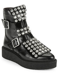 Marc Jacobs Bowery Studded Leather Platform Moto Boots