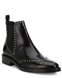 Burberry Bactonul Studded Leather Brogue Chelsea Boots