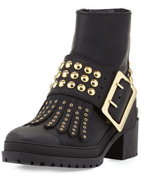 Burberry Whitchester Studded Buckle Bootie Black