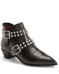Marc by Marc Jacobs Carroll Studded Leather Pointy Toe Ankle Boot