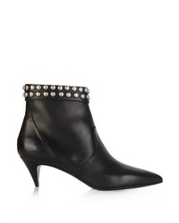 Saint Laurent Cat Stud Embellished Leather Ankle Boots