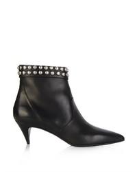 Saint Laurent Cat Stud Embellished Leather Ankle Boots