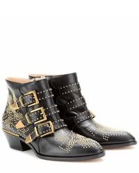 Chloé Chlo Susanna Studded Leather Ankle Boots