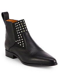 Chloé Studded Leather Ankle Boots