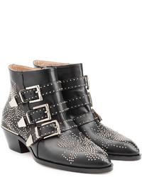 Chloé Studded Susanna Ankle Boots