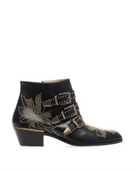 Chloé Susannah Studded Leather Ankle Boots