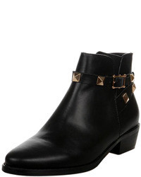 Choies Gold Studded Strap Ankle Boots