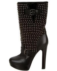Christian Louboutin Marisa Studded Mid Calf Boots