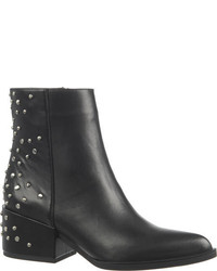 Circus By Sam Edelman R Studded Ankle Boot Black Burnished Leather Boots