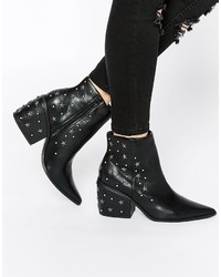 Asos Collection El Paso Western Studded Ankle Boots