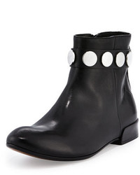 CNC Costume National Costume National Studded Ankle Strap Leather Boot Black