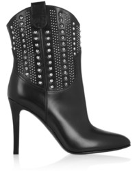 Saint Laurent Debbie Studded Leather Ankle Boots