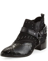 Donald J Pliner Desta Calf Hair Ankle Bootie Black