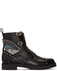 Fendi Black Studded Biker Boots