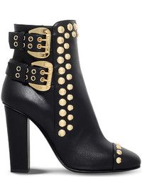 Giuseppe Zanotti Studded Leather Heeled Ankle Boots