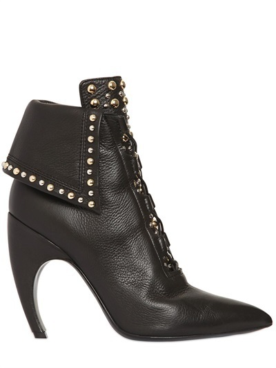 ... Black Studded Leather Ankle Boots Givenchy 105mm Royal Studded Leather Ankle  Boots ... a92572f8e179