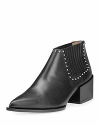 Givenchy Lux Leather Studded Chelsea Boot Black