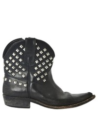 Golden Goose Deluxe Brand Golden Goose Black Leather Ankle Boots