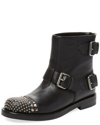 Gucci Rosell Studded Leather Ankle Boot