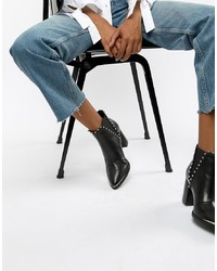 427004485eb Women's Black Studded Leather Boots by Steve Madden | Women's ...