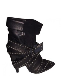 Isabel Marant Black Leather Ankle Boots