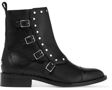 Jimmy Choo Baxter Studded Leather Ankle Boots Black