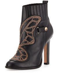 Sophia Webster Karina Studded Butterfly 100mm Bootie Black