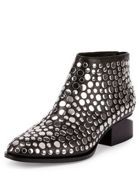 Alexander Wang Kori Studded Leather Lift Heel Bootie Black