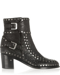 Laurence Dacade Gatsby Studded Textured Leather Ankle Boots